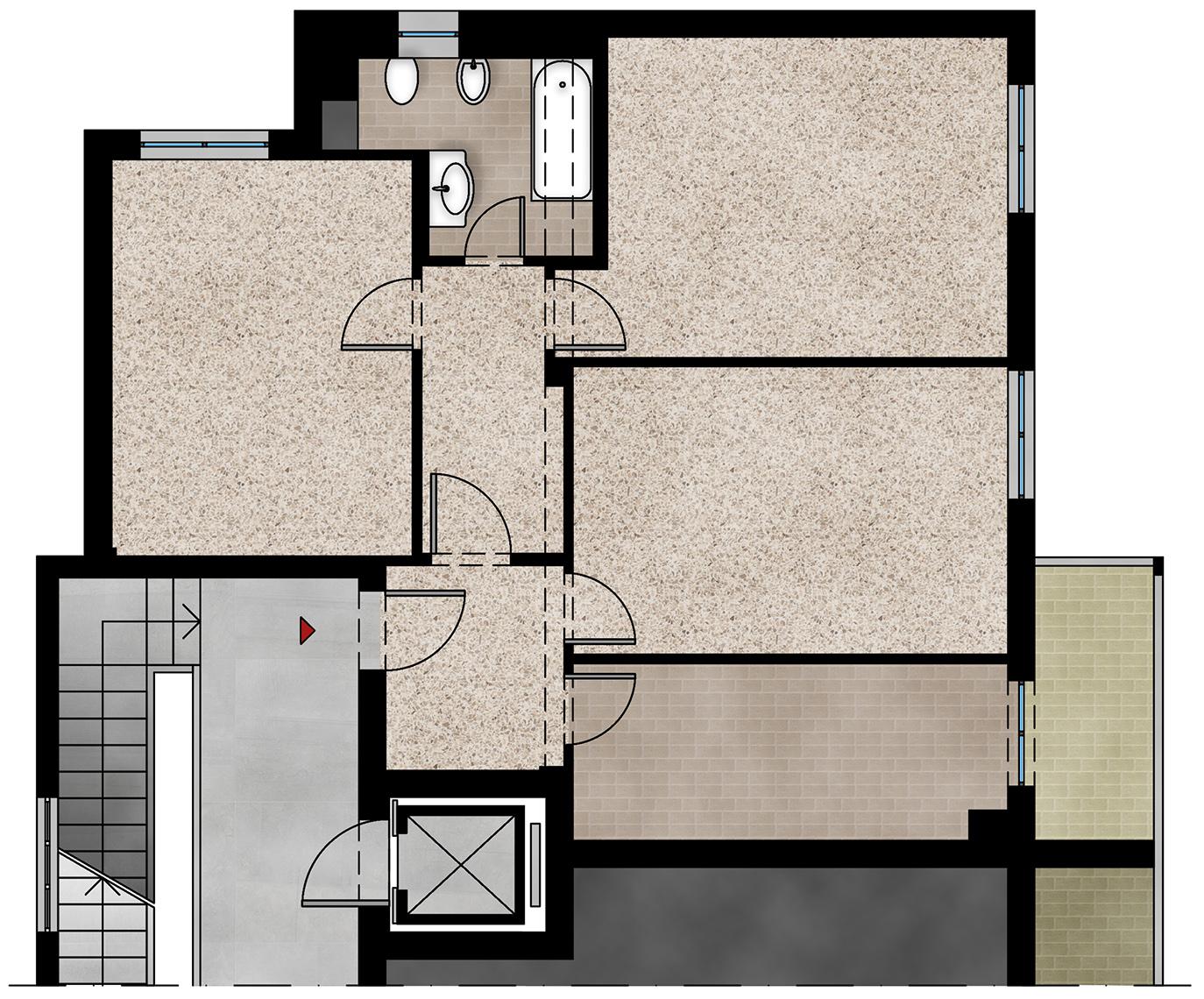 Piante Da Appartamento Ambiente Buio gabriele albanese | progetti | casa fm_19