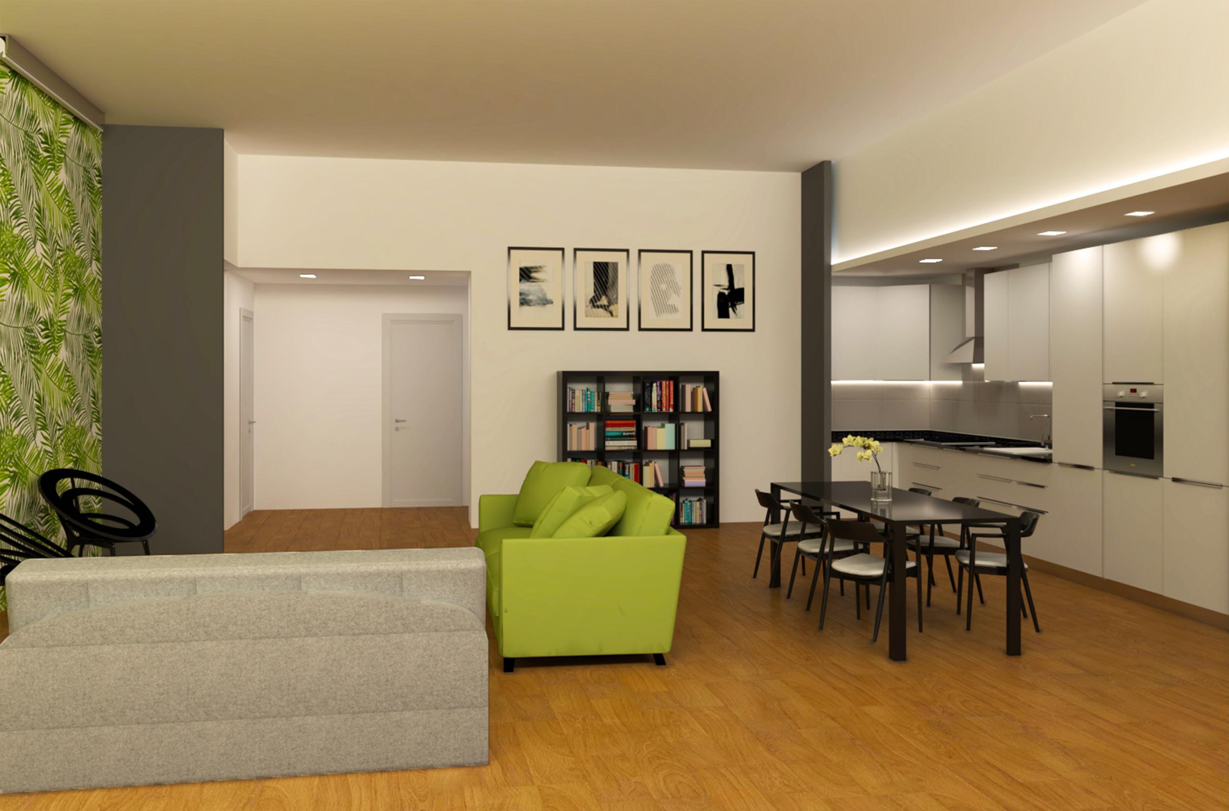 Progetto Gabriele Albanese - CASA RG_20 - Area Living ristrutturazione appartamento Milano