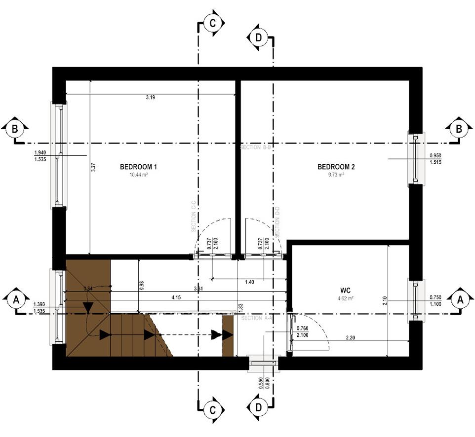 Gabriele Albanese - Portfolio - Casa AL_19 - London UK - Schema Sezioni P1