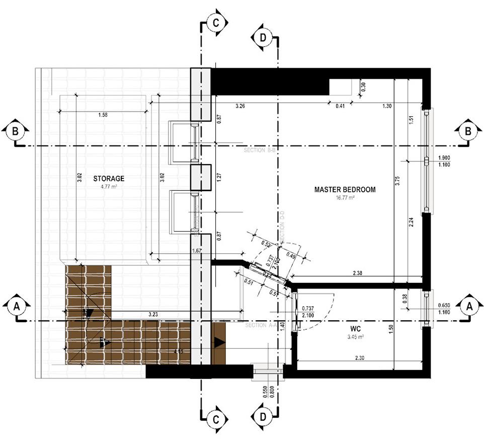 Gabriele Albanese - Portfolio - Casa AL_19 - London UK - Schema Sezioni P2