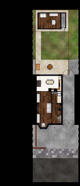 Gabriele Albanese - Portfolio - Casa AL_19 - London UK - Stato di Progetto - Pianta Piano Terra