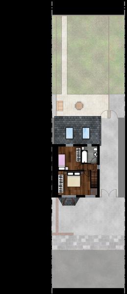 Gabriele Albanese - Portfolio - Casa AL_19 - London UK - Stato di Fatto - Pianta Piano Primo