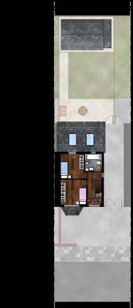 Gabriele Albanese - Portfolio - Casa AL_19 - London UK - Stato di Progetto - Pianta Piano Primo