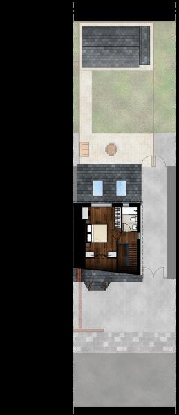 Gabriele Albanese - Portfolio - Casa AL_19 - London UK - Stato di Progetto - Pianta Piano Secondo