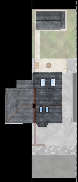 Gabriele Albanese - Portfolio - Casa AL_19 - London UK - Stato di Progetto - Pianta Coperture